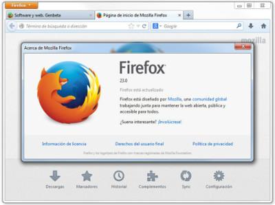 Firefox 23 listo. Más seguro, más social y con nuevo logotipo