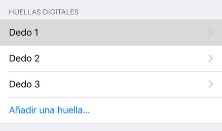 Huellas Touchid Ios
