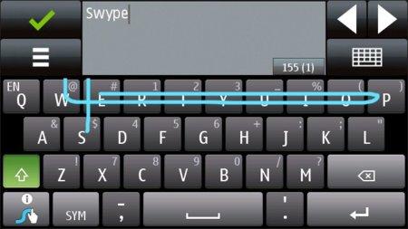Swype llega a Symbian^1