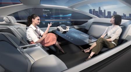 Recreacion Del Interior De Un Coche Autonomo De Volvo