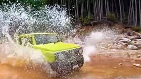 Así de bien se desenvuelve el Suzuki Jimny rodando por caminos imposibles para otros coches