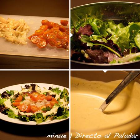 ensalada de bacalao - preparación