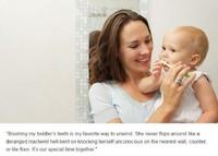 Cepillando los dientes a tu bebé