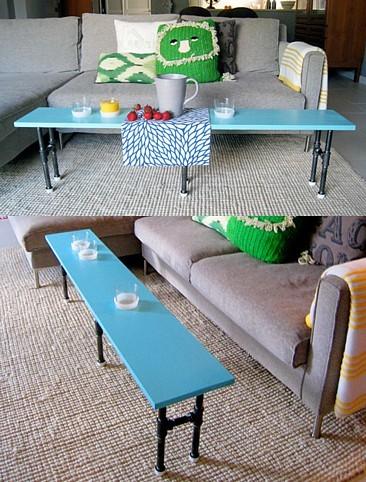 Foto de Una mesa auxiliar hecha con tuberías (1/7)