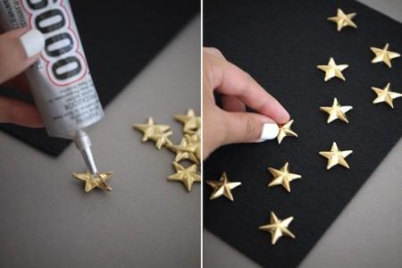 estrellas pegamento