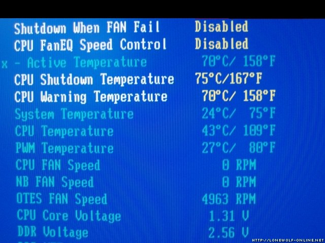 Bios Temperature Limit