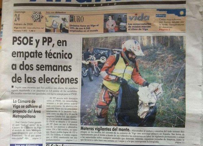 Endureros voluntarios en Galicia