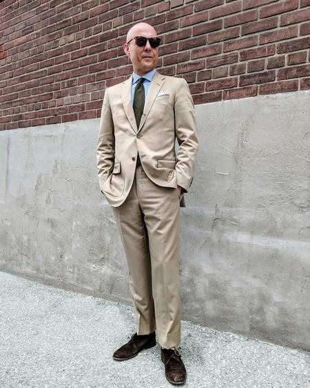 Tan Suit Men Street Style Beige Trendencias Hombre 02