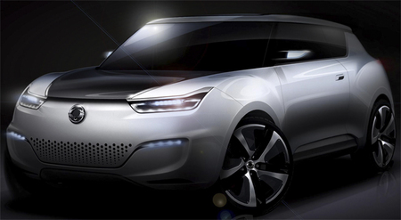 SsangYong prepara un prototipo de SUV híbrido para París