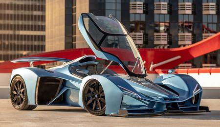 Delage fantasea con coronarse en Nürburgring con su coche híbrido de 1.230 CV y dos millones de euros