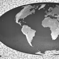 El mapa más pequeño del mundo tiene apenas una centésima parte del diámetro de un cabello humano