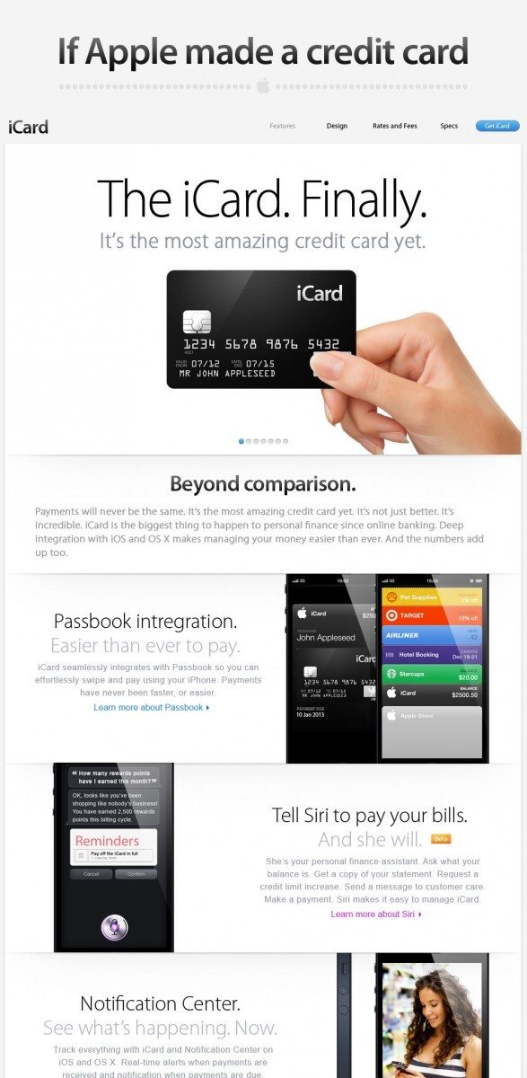 If Apple Made a Credit Card...