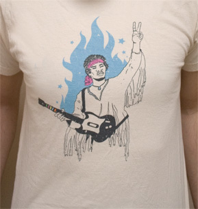 Camiseta: Guitar Hero y Hendrix
