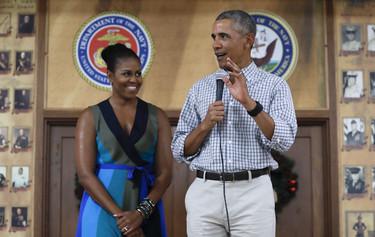 Michelle Obama no nos deja buen sabor de boca con su look veraniego durante el discurso navideño
