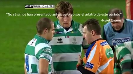 """Así habla el mejor árbitro de rugby a sus jugadores para dejarles claro quién manda: """"Esto no es fútbol"""""""