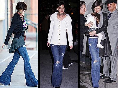 Las celebrities y sus obsesiones: Katie Holmes y sus jeans rotos