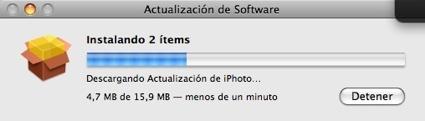 Actualización menor de iPhoto y del Pro Kit
