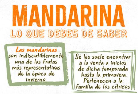 Todo lo que necesitas saber de la mandarina. Infografía