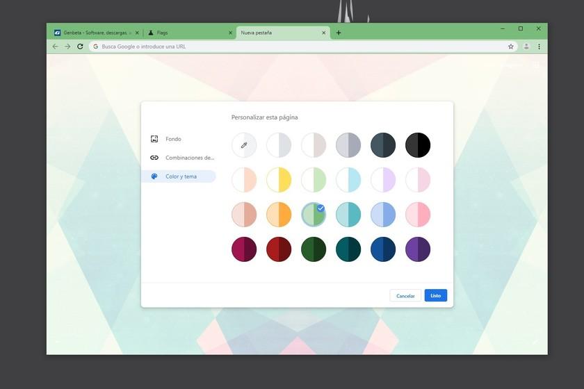 Google Chrome already allows us to create our own theme