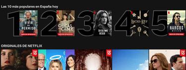 Netflix añade un Top 10 con las películas y series más vistas en su plataforma