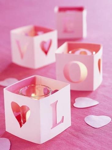 Una buena idea: viste tus portavelas para San Valentín