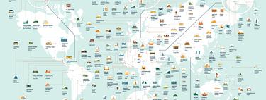 El mapa con las localizaciones más repetidas en series y películas... en todo el mundo