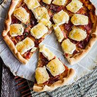 Tarta de queso Camembert y jamón serrano, receta sin complicaciones
