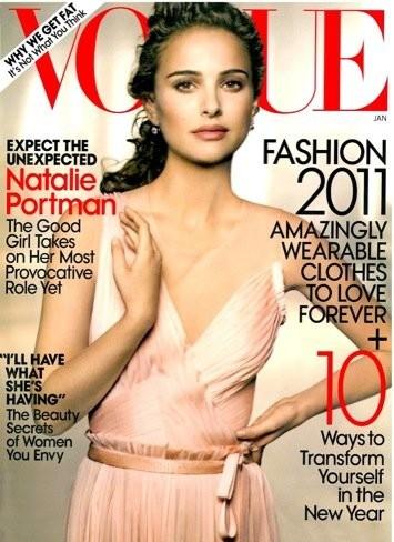 Natalie Portman guapísima en la portada de Vogue
