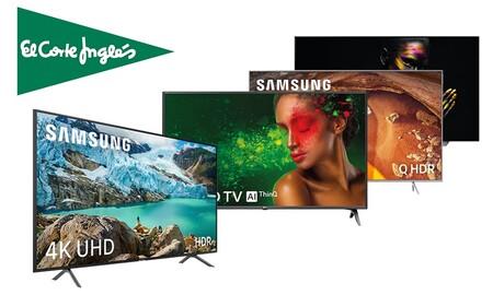 Ofertas en smart TVs en El Corte Inglés: 16 modelos de las gamas medias y altas de LG, Philips, Panasonic, Sony o Samsung con descuentos de hasta un 40%