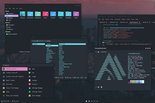 Archcraft es otra estúpida y sensual distro Linux minimalista basada en Arch que luce simplemente fenomenal