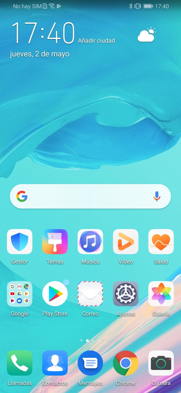 EMUI en Huawei P Smart Z