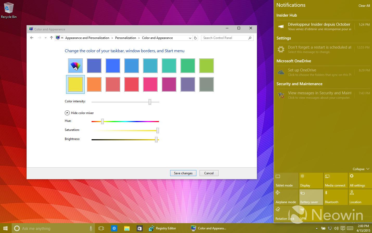 Foto de Temas de colores en Windows 10 build 10056 (8/16)