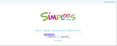 Simploos, buscador con resultados visuales
