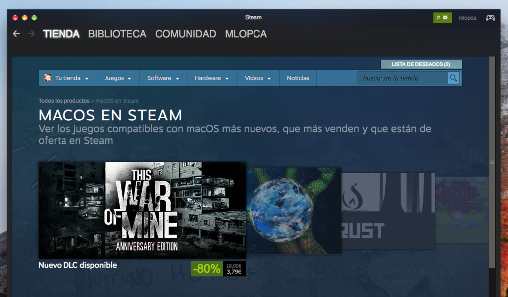 Rebajas Steam Mac