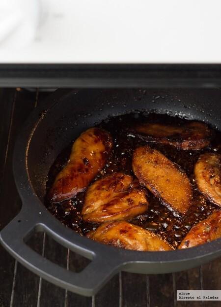 Pechugas de pollo caramelizadas, receta fácil y deliciosa