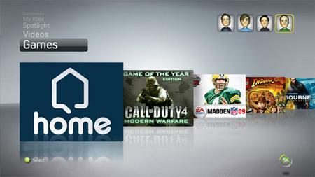 Primeras imágenes del Home de Xbox 360