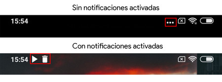 Notificaciones Xiaomi Barra