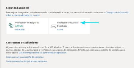Cuenta Sin Contrasenas Microsoft