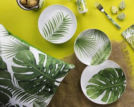 Excelsa Foliage Vajilla De 18 Piezas De Porcelana