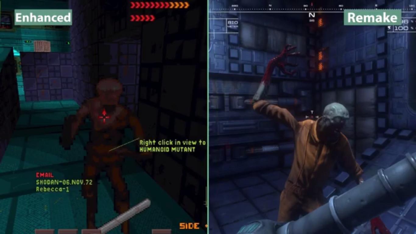 Un vídeo comparativo muestra las diferencias entre System Shock y su remake