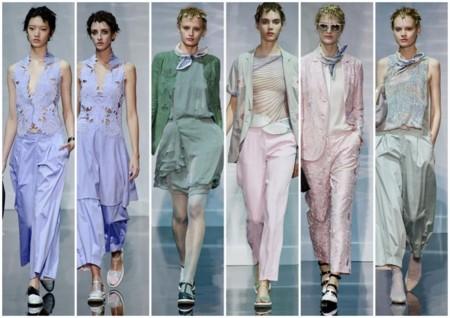 emporio Armani tendencia pv 2014 colores pastel