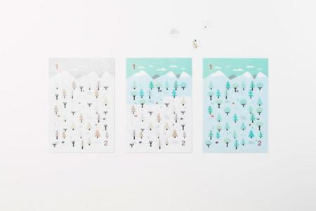 Sticker Calendar Nendo