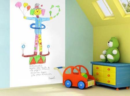 Decora la habitación de los niños con sus propios dibujos
