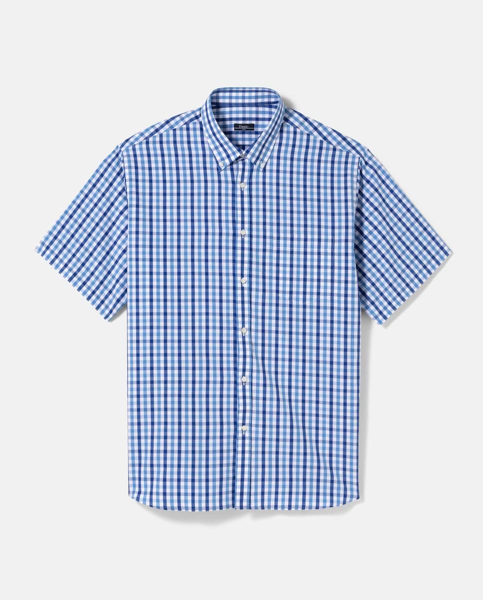 Camisa de hombre classic de cuadros azul tallas grandes