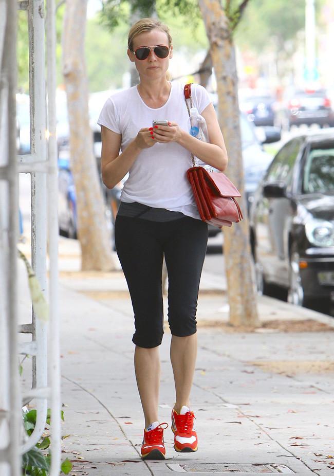 Diane Kruger zapatilla moda