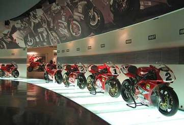 Recreación virtual del Museo Ducati