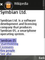 Wikipedia en Symbian S60