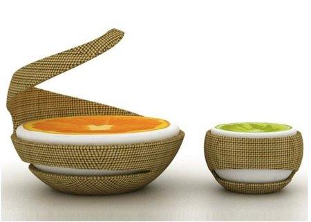 """Naranja y limón, """"muebles cítricos para la terraza"""""""