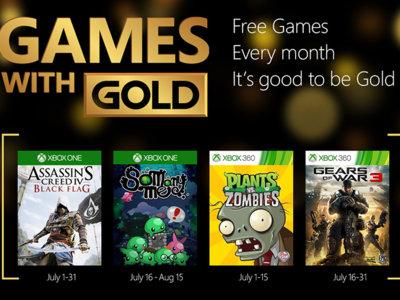 Assassin's Creed IV: Black Flag y Gears of War 3 entre los títulos de Games With Gold para el mes de julio
