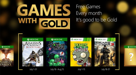 Assassin's Creed IV: Black Flag y Gears of War 3 entre los títulos de Games With Gold para el mes de julio
